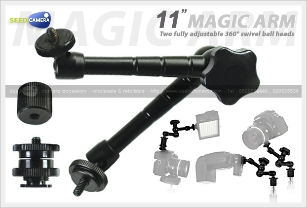 """Magic Arm 11"""" with Ballhead and Shoe Adapter"""