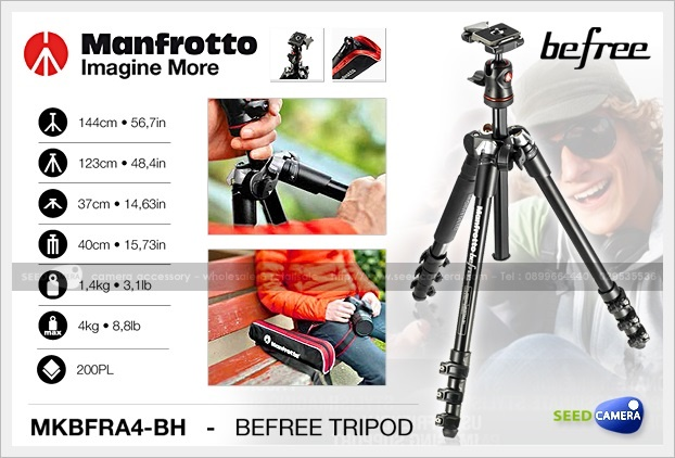 Manfrotto BeFree Travel Tripod (MKBFRA4-BH)