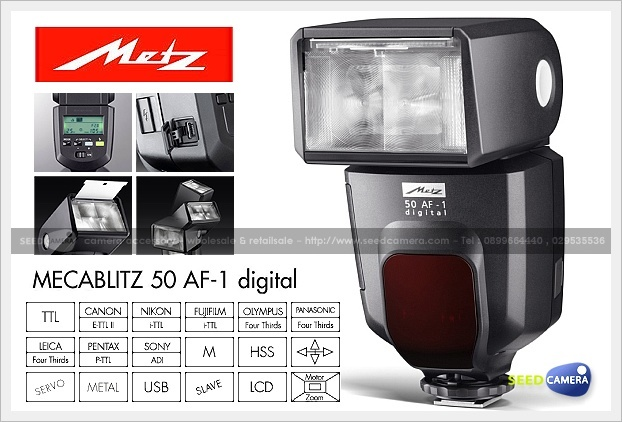 metz mecablitz 50 af 1 digital flash seedcamera com. Black Bedroom Furniture Sets. Home Design Ideas