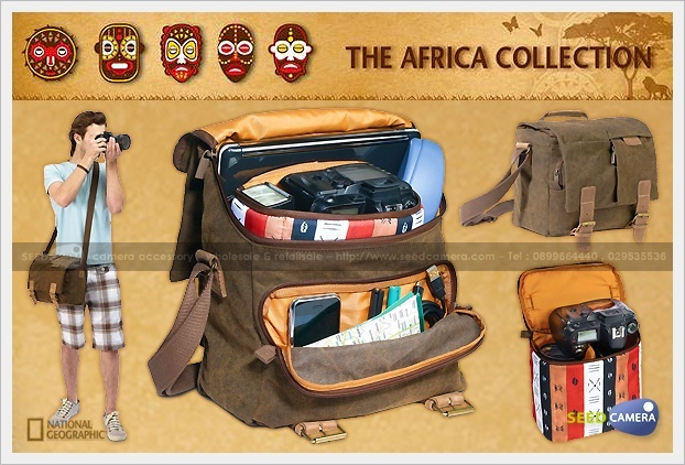 National Geographic Africa A2540 Midi Satchel