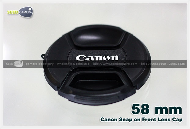 Snap-on Lens Cap Canon 58mm