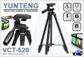 ขาตั้งกล้อง YUNTENG VCT-520 Aluminum Alloy Tripod 3-Section