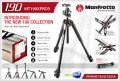 Manfrotto 190XPRO3 BH Aluminum Tripod + 496RC2 Ball Head