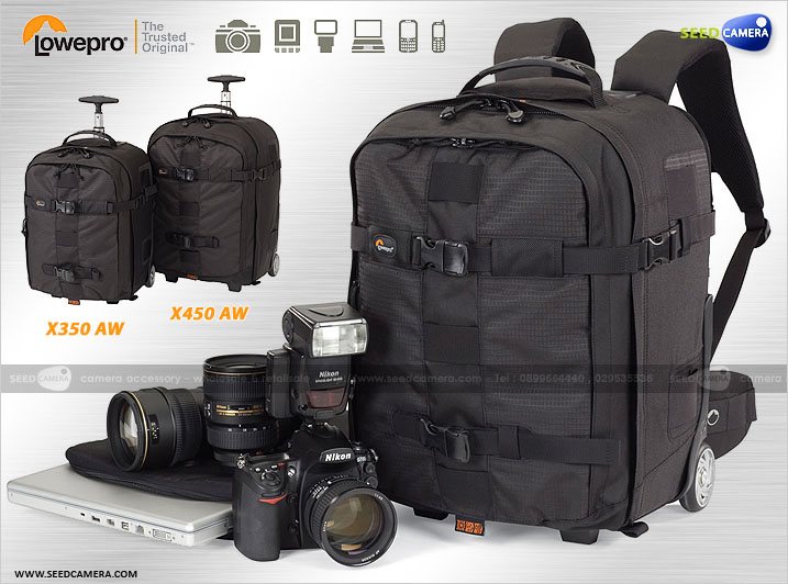 Lowepro Pro Runner X350 Aw Rolling Backpack Camera Bag