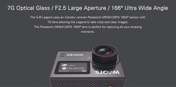กล้อง SJCAM SJ6 Legend - Panasonic MN34120PA (WiFi/Bluetooth/4K)