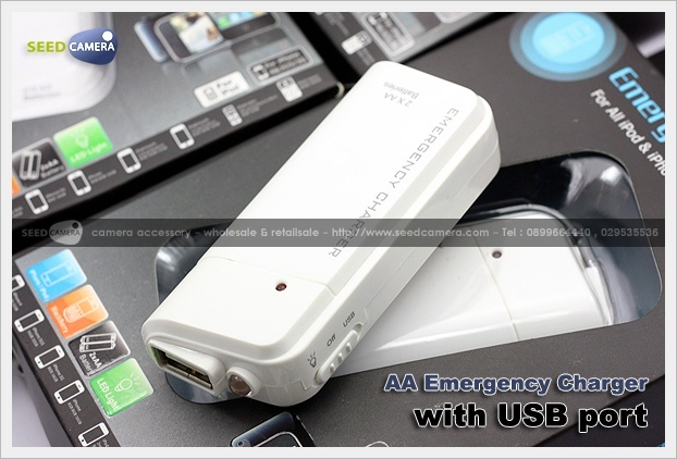 Battery AA Emergency Charger with USB port