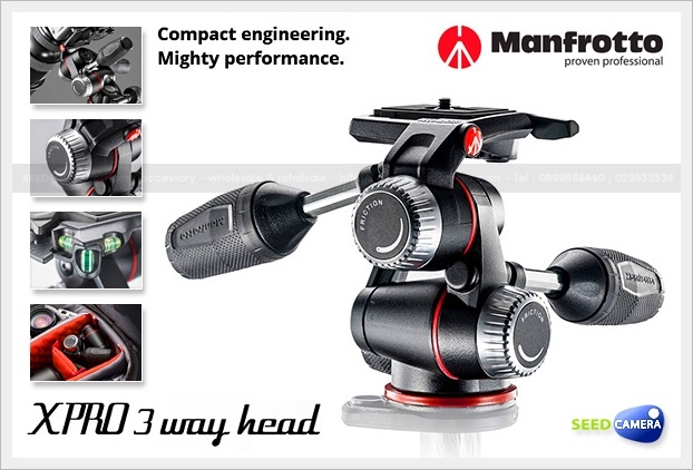 Manfrotto X-PRO 3-Way Head with Friction Controls (MHXPRO3W)