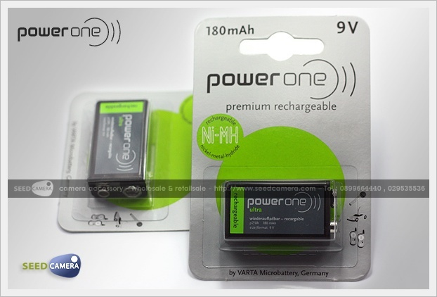 Power-One Premium Rechargeable 9V