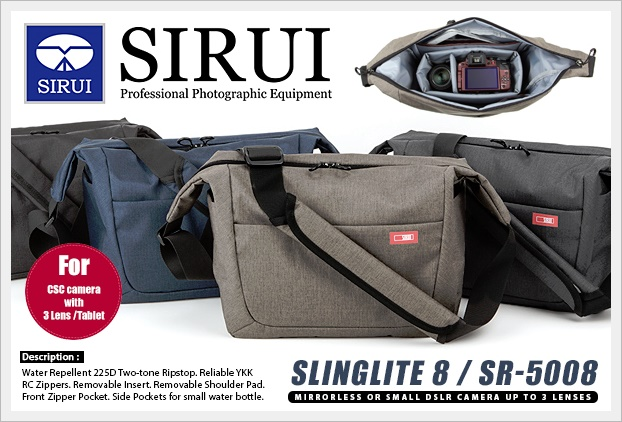 "กระเป๋ากล้อง SIRUI SlingLite 8 for Mirrorless 3 Lens (8"" Tablet)"