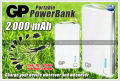 GP Portable PowerBank 2000 mAh (XPB28)