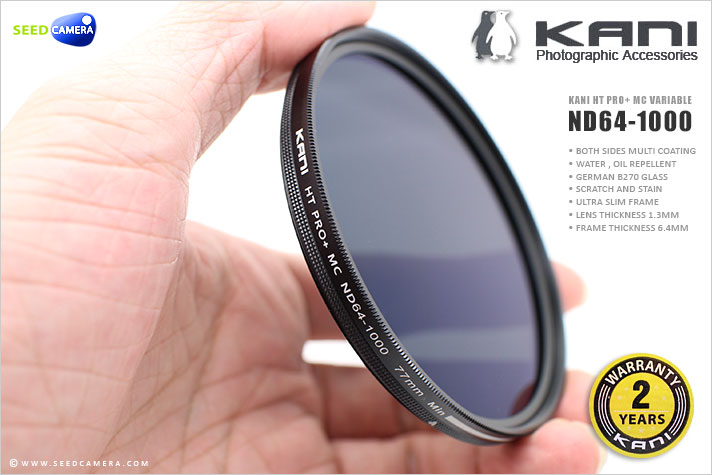 ฟิลเตอร์ KANI HT Pro + MC Variable ND 64-1000 Filter