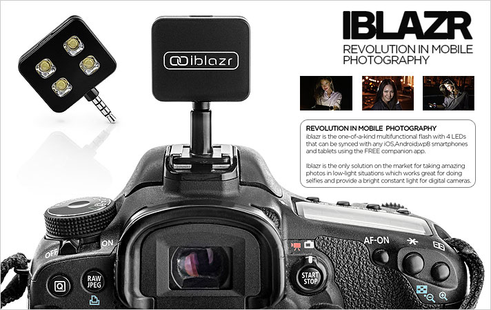 iblazr - LED Flash For iPhone iPad Android