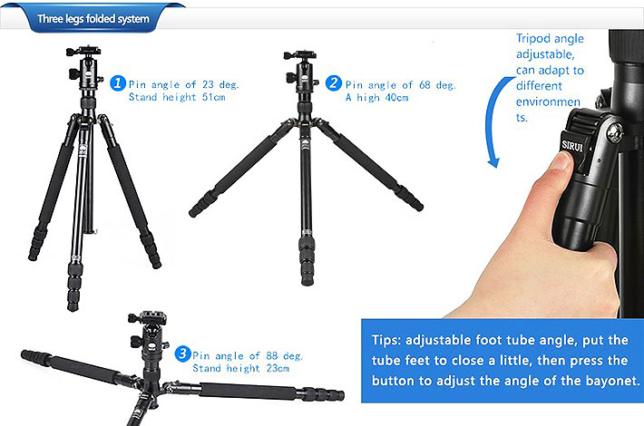 ขาตั้งกล้อง Sirui T-004KX Aluminum Tripod with C-10X Ball Head